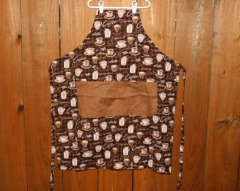 Apron, Reversible, Coffee Mug Print