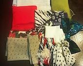 12 various vintage scarfs, bows & ties