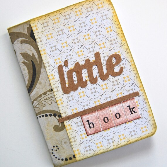 Mini Journal mini diary blank notebook altered composition book Little Blank Book