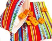 Reusable Sandwich and Snack Bag Set-Colorful Stripes