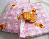 Reusable Sandwich and Snack Bag Set-Plaid Winnie the Pooh