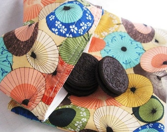 Asian Fans Reusable Sandwich and Snack Bag Set of 2