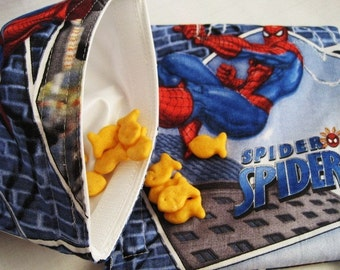 Amazing Spiderman Sandwich and Snack Bag Set, Reusable