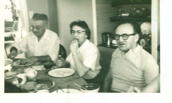 Vintage 1950s Photo Ethnic Italian American Family Meal Dinner