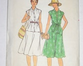 Vintage Butterick Pattern 4801 Misses Womens Dress, top, skirt and belt, Size 14 Uncut