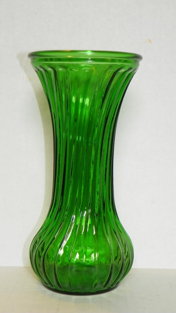 Vintage Hoosier Emerald Green Flower Vase Art Deco 7 1 2