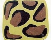 Polymer Clay Cane, Leopard Print