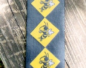 """GA Tech Rambling Wreck Yellow Jackets Durable Bookmark in Black with Yellow Framed Jackets.  2 1/2"""" X 6 1/2"""""""