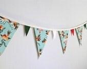 Bundled-Up Birdies Christmas Bunting Banner