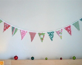 Bright and Festive Christmas Bunting Banner