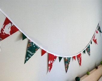 Snowmen & Sleigh Team filled Christmas Bunting Banner