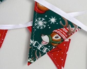 Mini Reindeer Christmas Bunting Banner