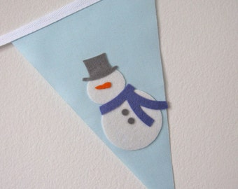 Winter Welcome Bunting Banner