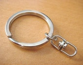10 pcs Key Rings key Chains with Swivel Connectors...1 inch H10-10