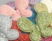 Lot of 20 Padded Shiny Butterfly Appliques Sewing EA150