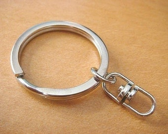 50 Key Rings with Swivel Connectors...Key Chains 1 inch H10-50