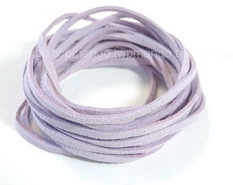 3 Yards Faux Suede Cord Leather Lace..Purple..3mm x 1mm..N45-10