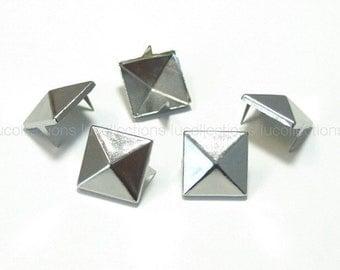 100 Pyramid Metal Studs Spots Nailheads Spikes 12mm N58-12