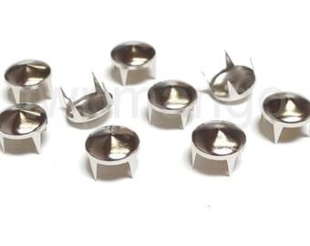 100 Cone Metal Studs Spots Nailheads Spikes 10mm N59-10