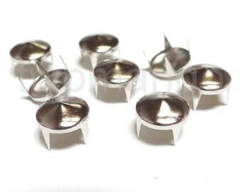 100 Cone Metal Studs Spots Nailheads Spikes 12mm N59-12