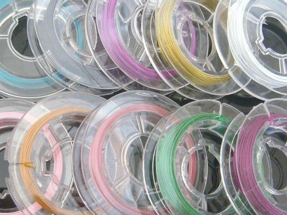 Multicolor Tiger Tail Beading Wire...10 Spools...0.45mm...100 Meters