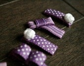 Purple Grape Baby Hair Clippies (Set of 4)