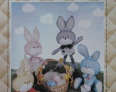 Vintage 80's Uncut Bunny Doll or Decoration Sewing Pattern by Patch Press