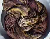 Luxe -- Snake Handler -- Hand Painted SW Falkland Merino Wool and Silk Sock Yarn