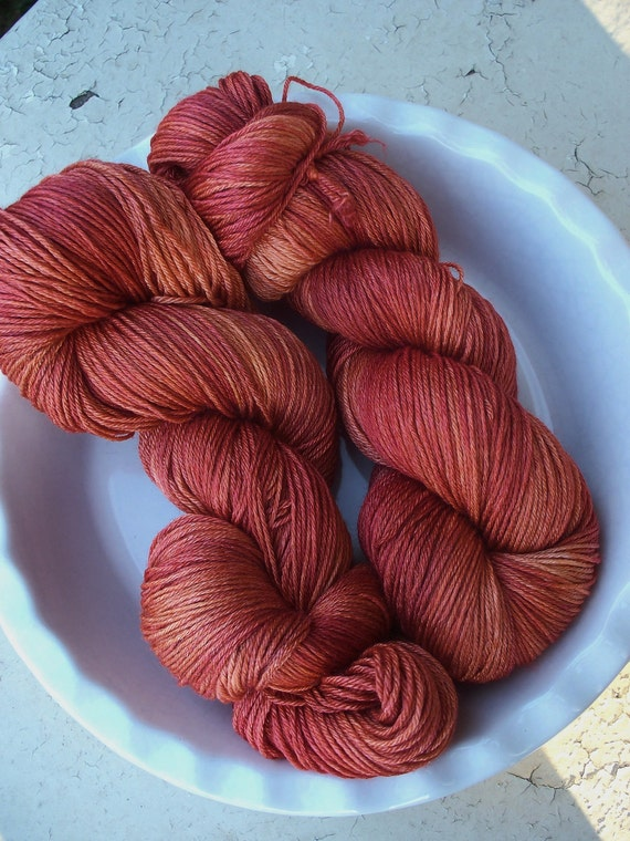 Luxe -- Rue Morgue-- Hand Painted SW Falkland Merino Wool and Silk Sock Yarn