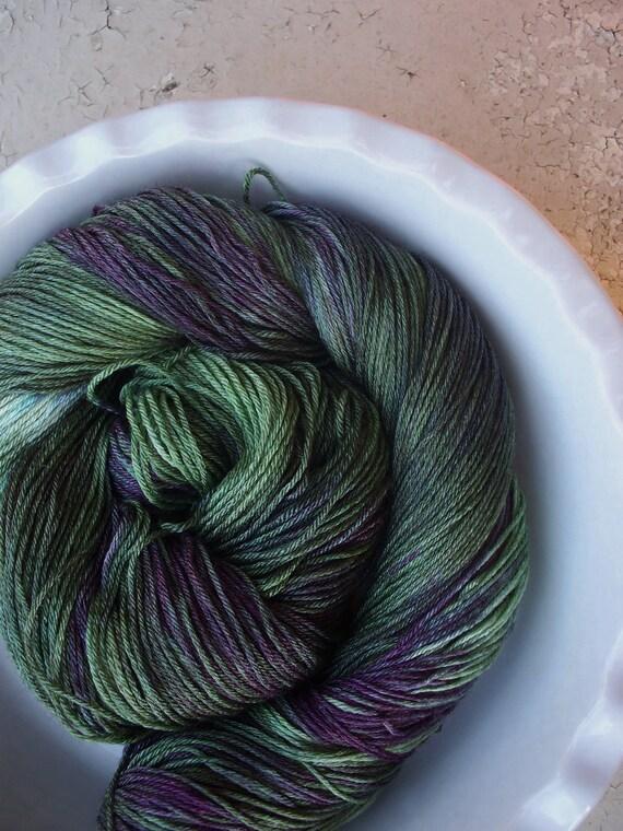 Luxe -- Eleonora-- Hand Painted SW Falkland Merino Wool and Silk Sock Yarn