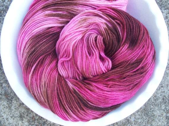 Vintage Rose -- Posh Socks -- Hand Painted Cashmere/Merino/Nylon Sock Yarn