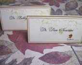 Wedding Escort and Placecards Autumn Scroll with Fall Leaves - Paper goods for Thanksgiving and Destination Weddings