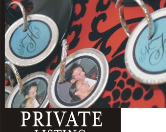 PRIVATE LISTING Wedding Wine Glass Charms