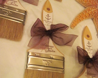 Custom Sand Brushes for the Beach and Beach Destination Weddings