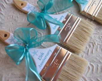 Anniversary Custom Sand Brushes for the Beach and Beach Destination Weddings