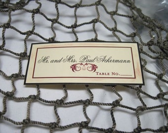 50 Elegant Rustic Vineyard Placecards for Beach and Destination Weddings