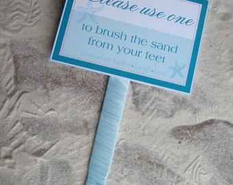Beach Wedding Sign - Beach Destination Wedding Signs - Sand Brush sign - Flip Flop Sign