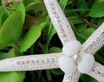 Starfish Tree Topper  - Elegant Sparkly for Christmas and Beach Weddings