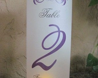 Table Number Luminary Rustic Vineyard for Wine Country Weddings Luminata