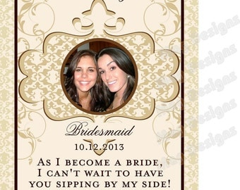 Private Listing for idonicolepotenzo Morrocan Style Bridal Party Wine Labels