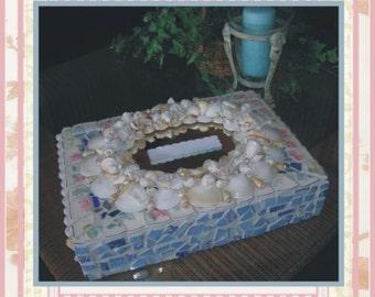 Keepsake Seashell Card Box for Beach Weddings