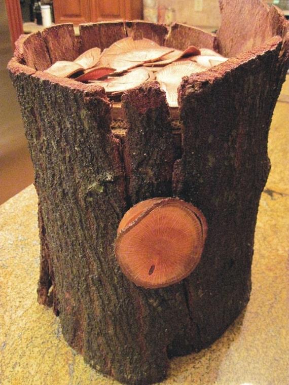 Tree Stump Wedding Card Envelope Box - Card holder