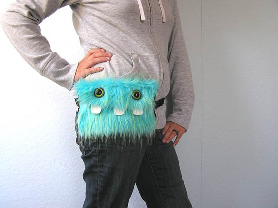 Blue & Green Monster Fanny Pack