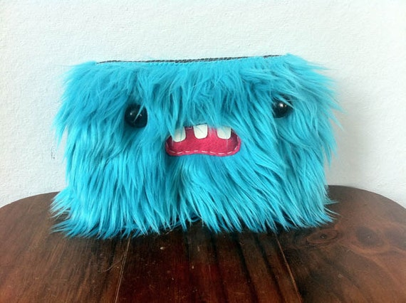 Blue Monster Pouch