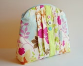 Eve Lynn Pouch - Bright Floral Fabric Print - Original OOAK
