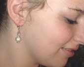 Stardust Silver Bead Earrings with Austrian Crystal