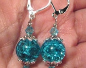 Mystical Sky Blue Dangle Earrings -- Choose Clip-On Earrings or a Variety of Pierced Earring Backings