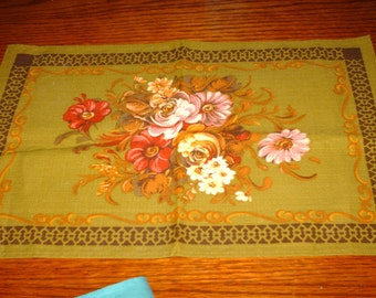 flowery cotton placemat runner