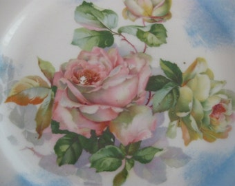 m redon limoges  stunning  hand painted  dinner plate