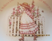 "Vintage HOLLY HOBBIE Happy Mother's Day 1982 Plate Plaque 8"" Genuine Porcelain"